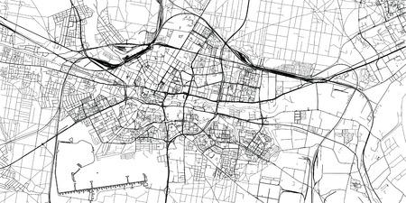 Urban vector city map of Bydgoszcz, Poland Vektoros illusztráció