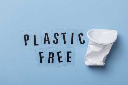 Plastic free message with a single use cup