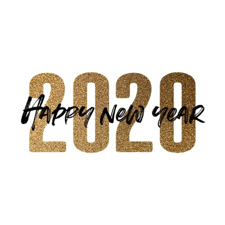 Happy new year 2020 new years eve poster composition Reklamní fotografie