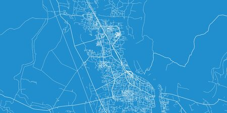 Urban vector city map of Khulna, Bangladesh