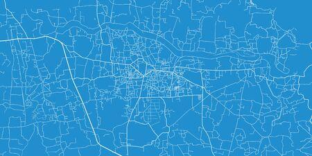 Urban vector city map of comilla, Bangladesh Ilustrace