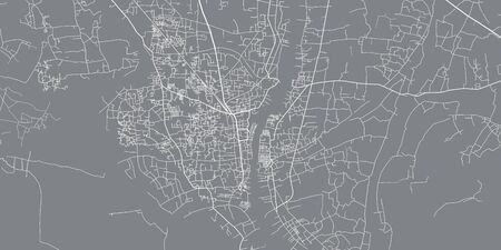 Urban vector city map of Narayanganj, Bangladesh