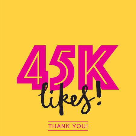 45k likes online social media thank you banner