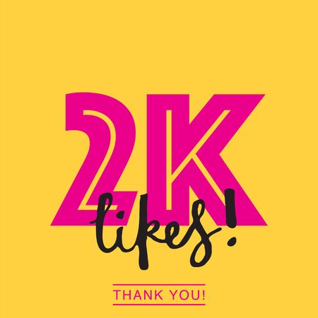 2k likes online social media thank you banner