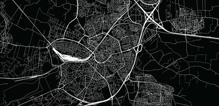 Urban vector city map of Amersfoort, The Netherlands 矢量图像