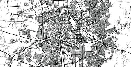 Urban vector city map of Aguascalientes, Mexico Vektoros illusztráció
