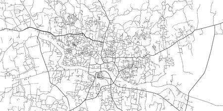 Urban vector city map of Sylhet, Bangladesh Vektoros illusztráció