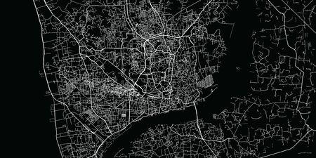 Urban vector city map of Chittagong, Bangladesh