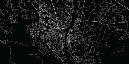 Urban vector city map of Narayanganj, Bangladesh