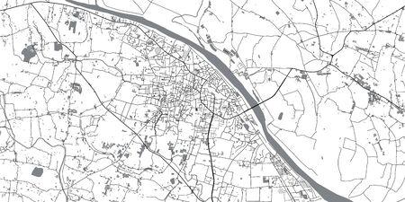 Urban vector city map of Mymensingh, Bangladesh