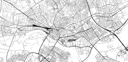 Urban vector city map of Arnhem, The Netherlands
