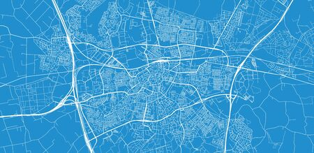 Urban vector city map of Breda, The Netherlands Illustration