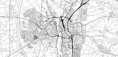 Urban vector city map of Maastricht, The Netherlands Vetores