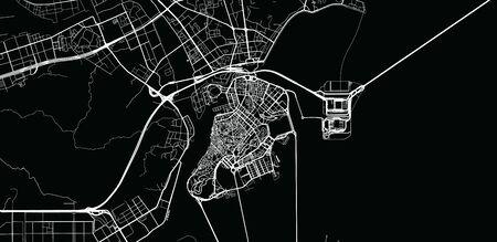 Urban vector city map of Macau, China