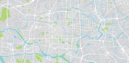 Urban vector city map of Foshan, China Ilustrace