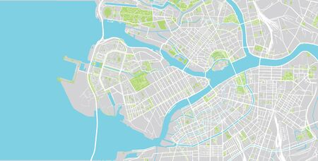 Urban vector city map of St Petersburg, Russia