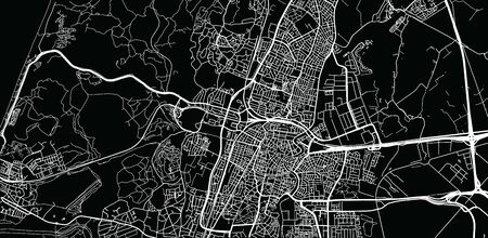 Urban vector city map of Haarlem, The Netherlands Ilustrace