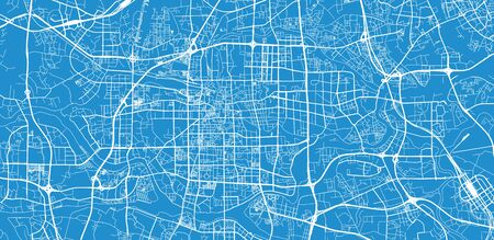 Urban vector city map of Foshan, China Standard-Bild - 128753596