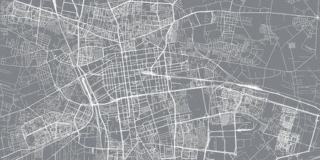Urban vector city map of Lodz, Poland Standard-Bild - 128754247