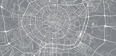 Urban vector city map of Chengdunear, China Ilustrace