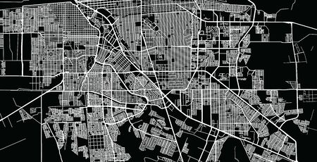 Urban vector city map of Mexicali, Mexico Ilustrace