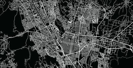 Urban vector city map of Oaxaca, Mexico Standard-Bild - 128794277
