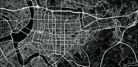 Urban vector city map of Taipei, China