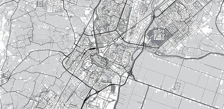 Urban vector city map of Alkmaar, The Netherlands Stockfoto - 129290154