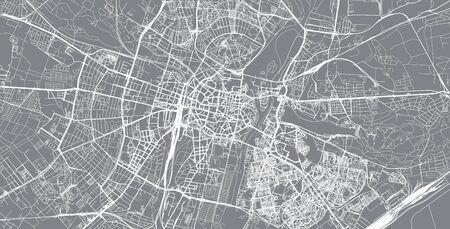 Urban vector city map of Poznan, Poland Stockfoto - 129348901