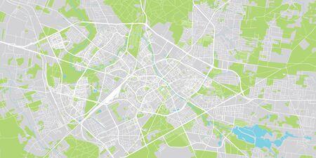 Urban vector city map of Bialystok, Poland Stockfoto - 129348919