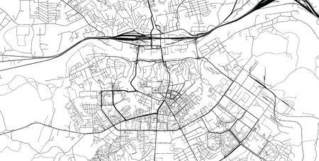 Urban vector city map of Smolensk, Russia Иллюстрация