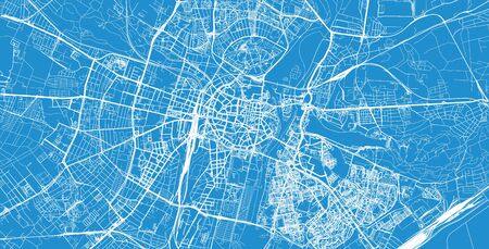 Urban vector city map of Poznan, Poland Иллюстрация