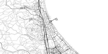 Urban vector city map of Sopot, Poland