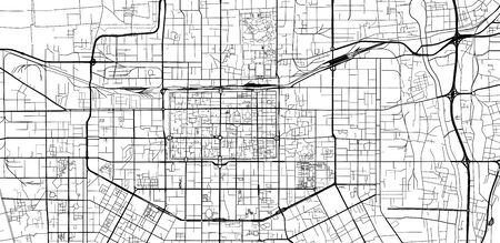 Urban vector city map of Xian, China