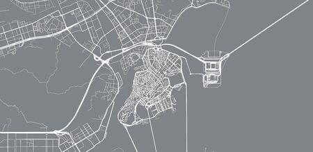 Urban vector city map of Macau, China Stockfoto - 129349050