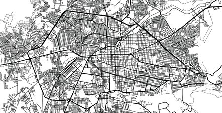 Urban vector city map of Morelia, Mexico Stockfoto - 129385240