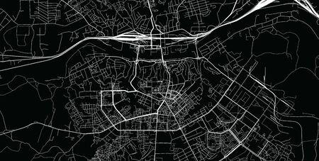 Urban vector city map of Smolensk, Russia Stock Illustratie