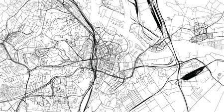 Urban vector city map of Gdansk, Poland Stockfoto - 129624411