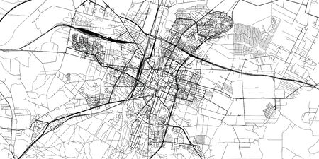 Urban vector city map of Kielce, Poland Stock Illustratie