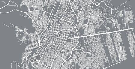 Urban vector city map of Saltillo, Mexico