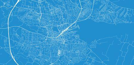 Urban vector city map of Kolding, Denmark