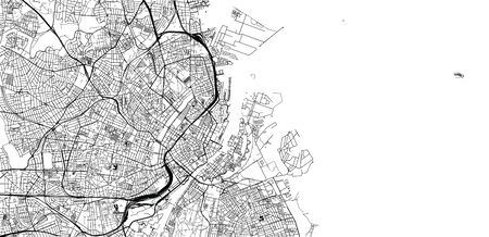 Urban vector city map of Copenhagen, Denmark