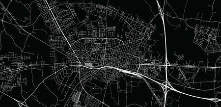 Urban vector city map of Herning, Germany Stockfoto - 129679340