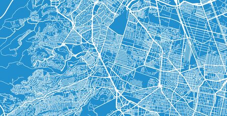 Urban vector city map of Naucalpan, Mexico Stock Illustratie