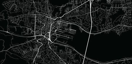 Urban vector city map of Vejle, Germany