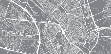 Urban vector city map of Utrecht, The Netherlands Ilustrace