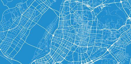 Urban vector city map of Nanjing, China Stockfoto - 129931304