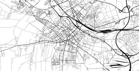 Urban vector city map of Gliwice, Poland