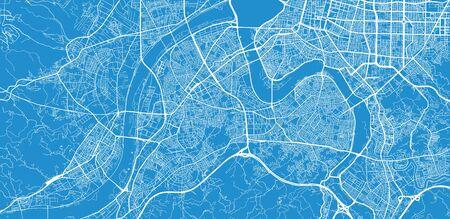 Urban vector city map of New Taipei, China