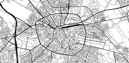 Urban vector city map of Eindhoven, The Netherlands